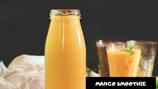 Peanut Butter Mango Smoothie | Easy Summer Drink Recipe