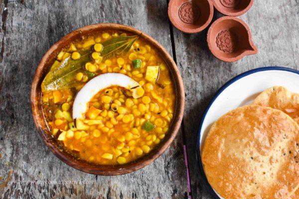 Cholar Dal / Bengali Chana Dal Recipe