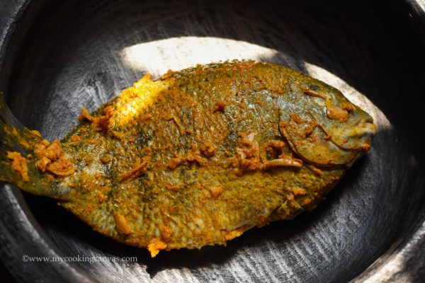 Fried Fish in Banana Leaf Recipe | Step by Step Kerala Karimeen pollichathu