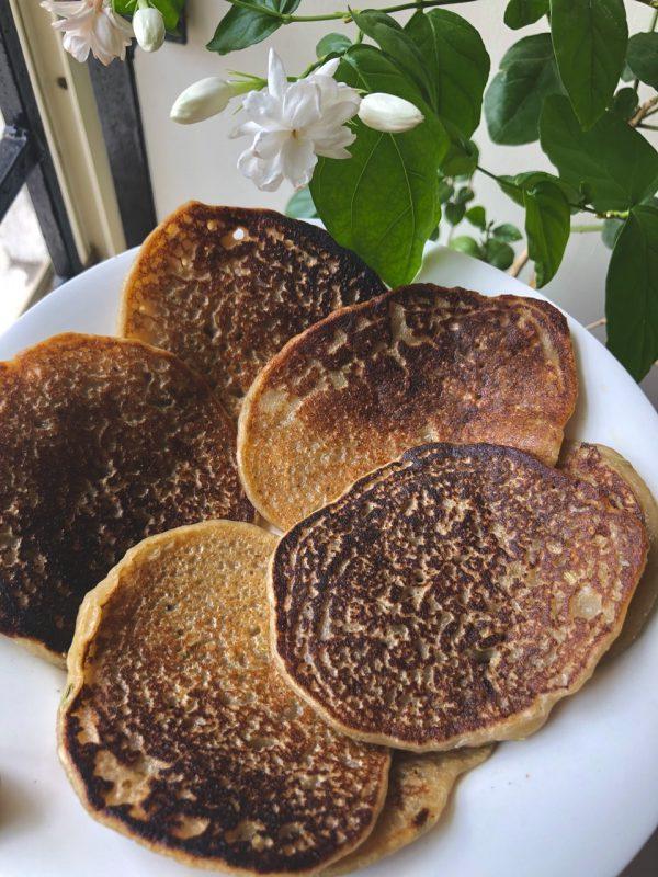 Easy Eggless Banana Pancake |Whole wheat Pancake Recipe by My Cooking Canvas